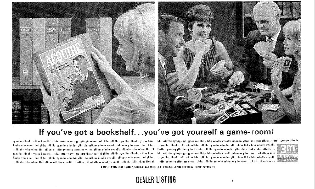 1963 3M Bookshelf Games Promo