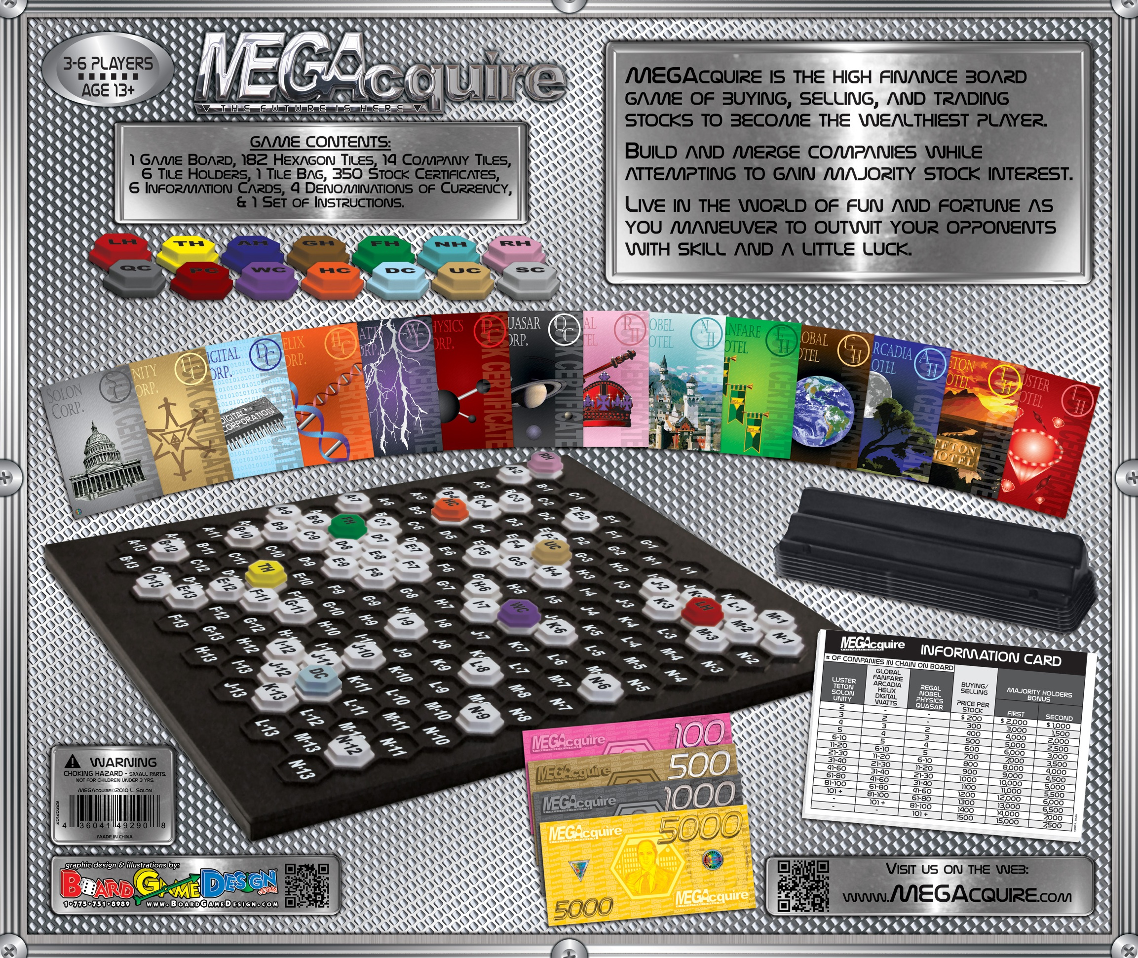 MEGAcquire Game Board