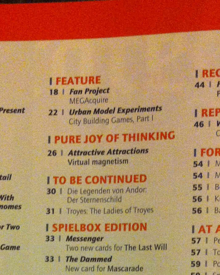 Spielbox Magazine, Issue #4, 2013
