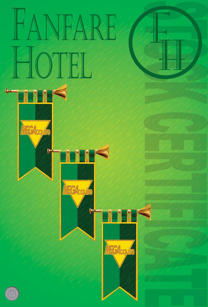 Fanfare Hotel Stock Certificate