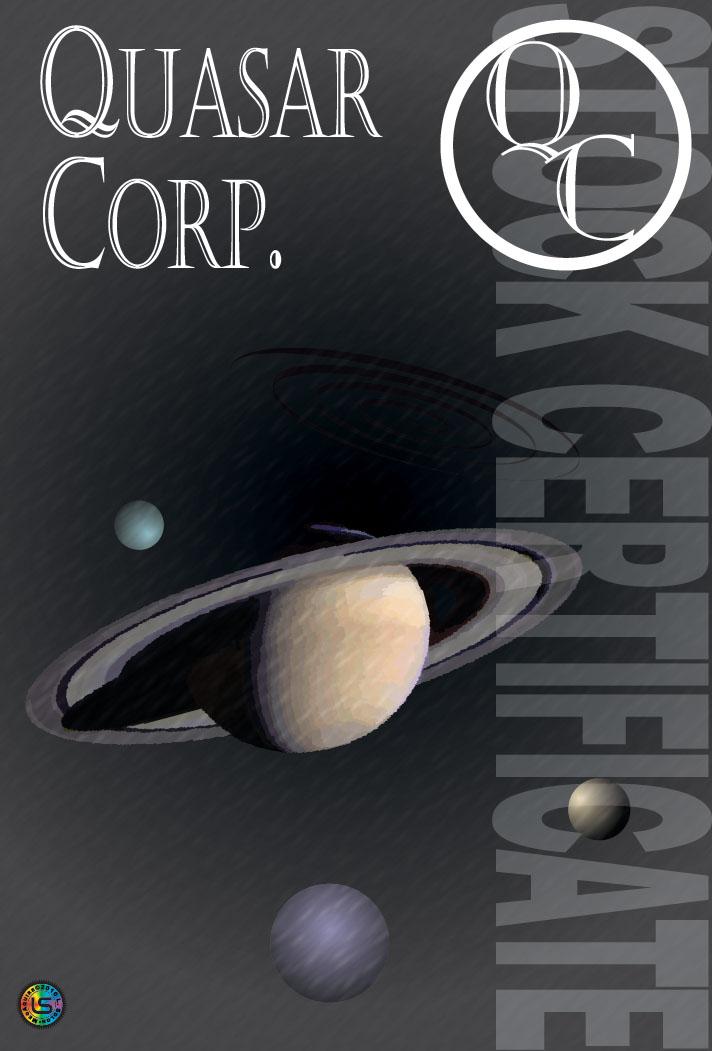 Quasar Corporation Stock Certificate