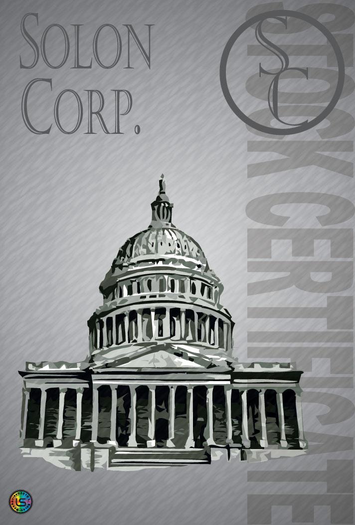 Solon Corporation Stock Certificate