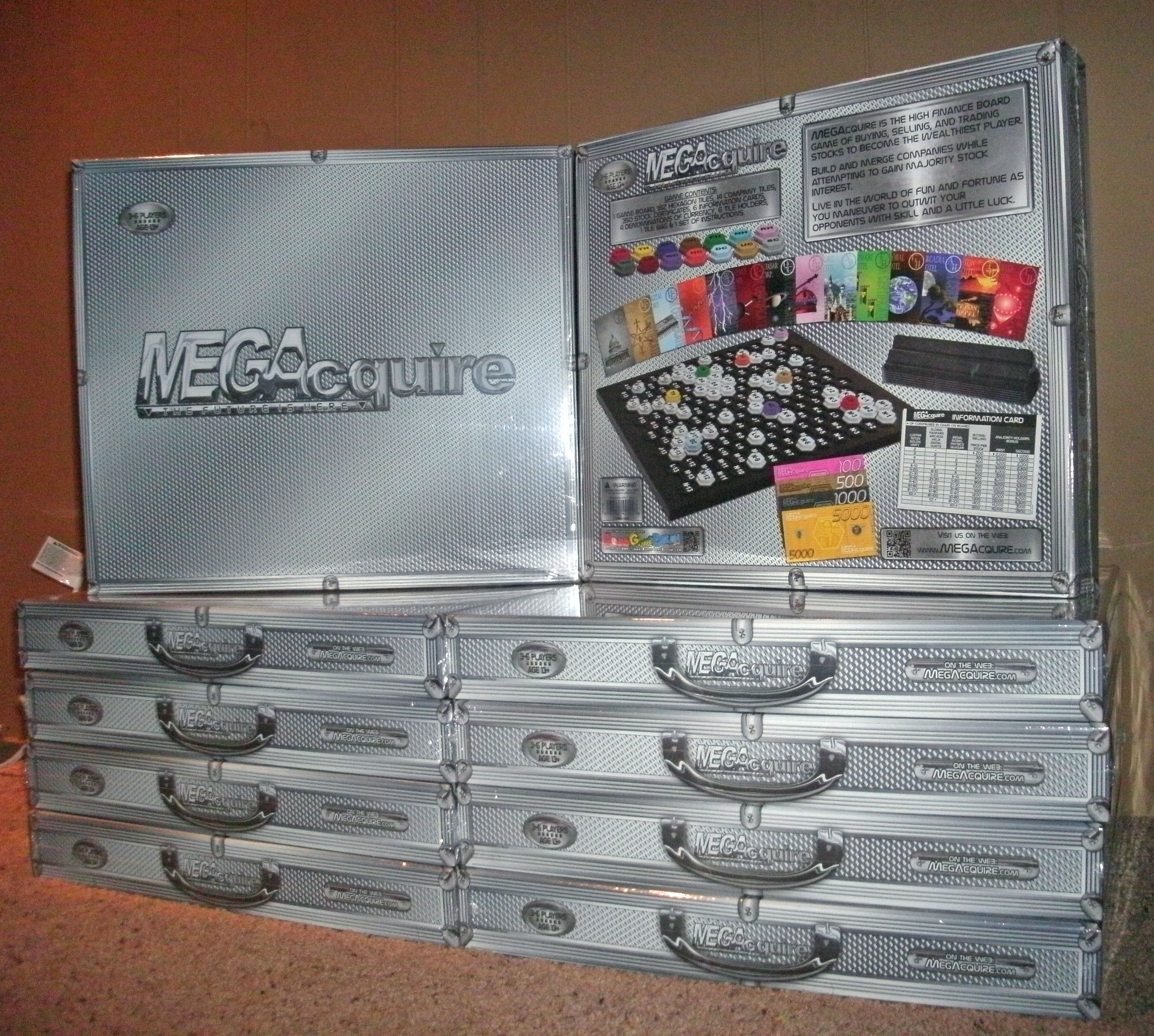 MEGAcquire Game Boxes