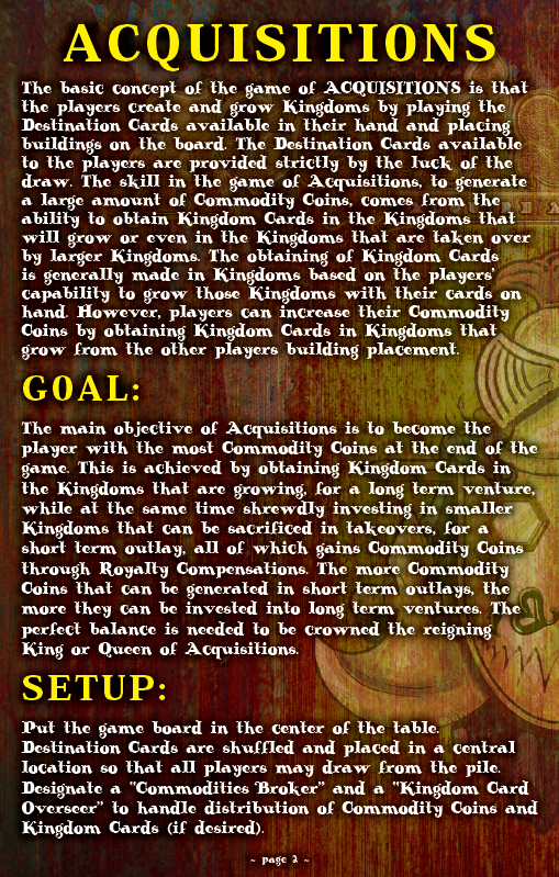 ACQUISITIONS Rules - Page 2