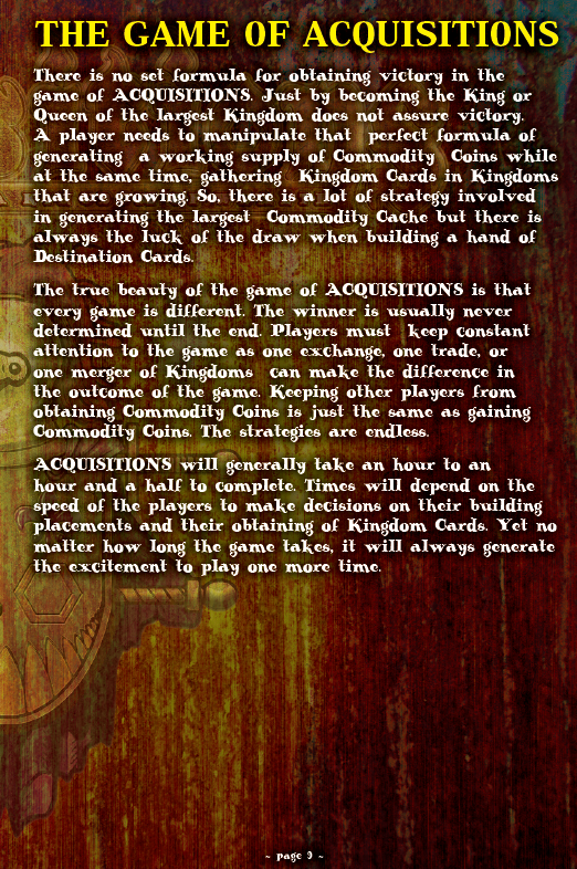 ACQUISITIONS Rules - Page 9