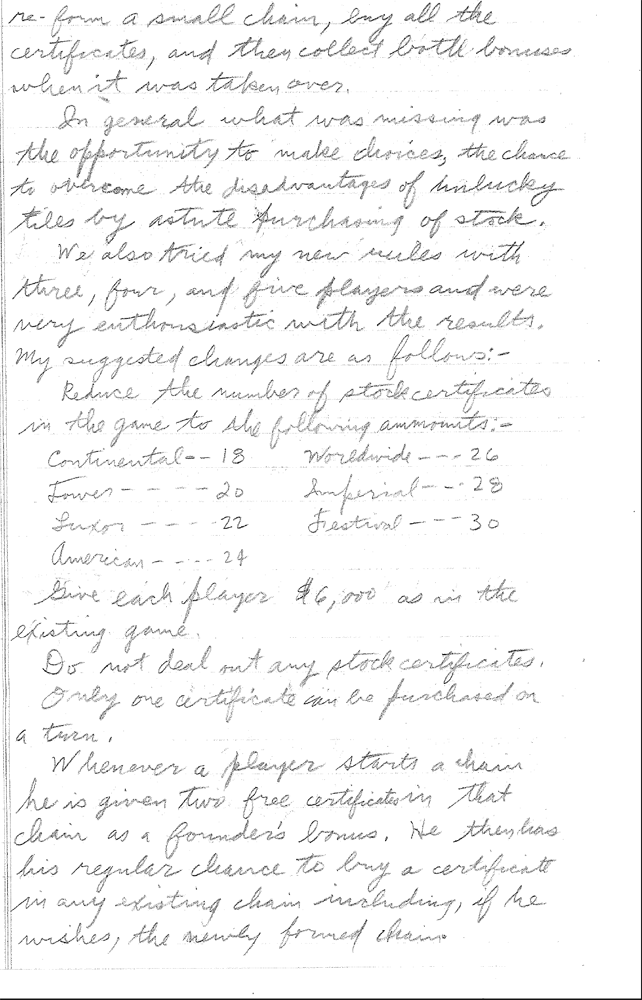 Sid Sackson Letter March 1, 1964 Page 3