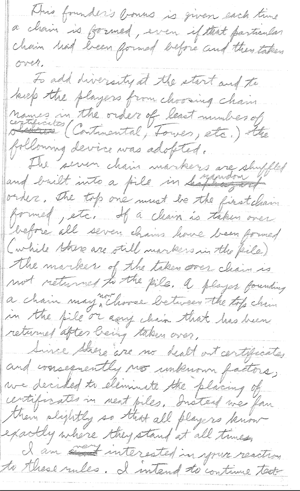 Sid Sackson Letter March 1,1964 Page 4