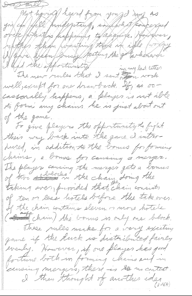 Sid Sackson Letter to 3M dated June 3, 1964 - Page 2