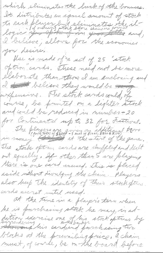 Sid Sackson Letter to 3M dated June 3, 1964 - Page 3