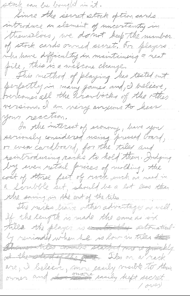 Sid Sackson Letter June 3, 1964 Page 4